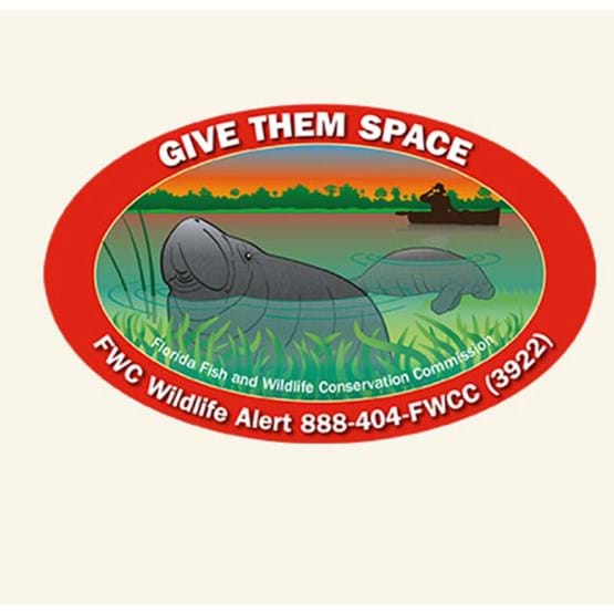 "2015-2016 ""Give them space"" decal by Mike Hunter, FWC."