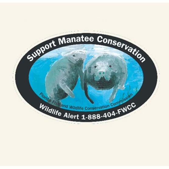 "2011-2012 ""Support manatee conservation"" decal by Bekah Scovill."