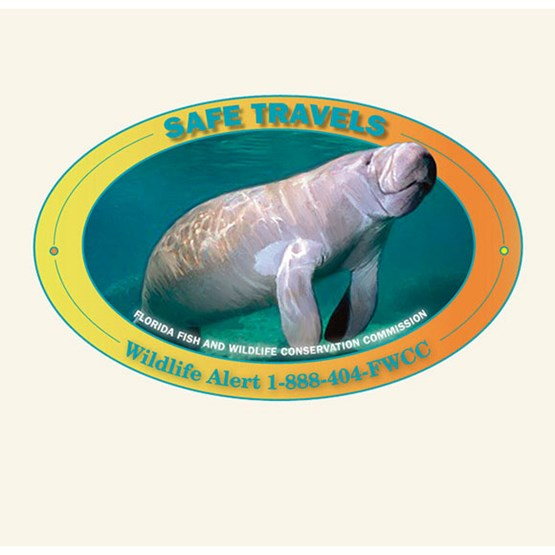 "2010-2011 ""Safe travels"" decal by Ann Maria Tavares."