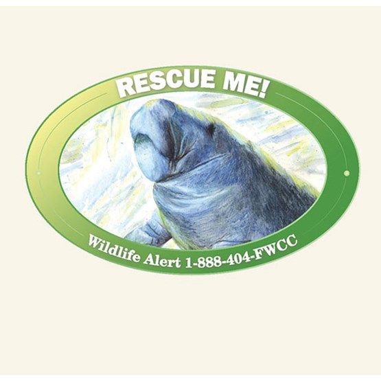 "2009-2010 ""Rescue me"" decal by Deanna Parsons."