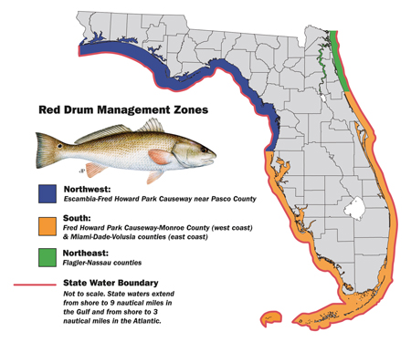 Red Drum Map