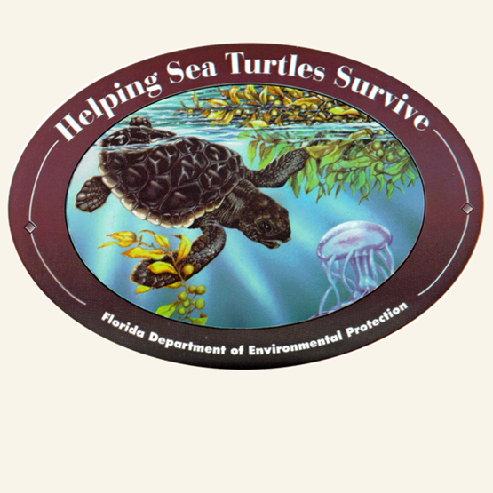 "1999-2000 ""Loggerhead"" decal by Dawn Witherington."