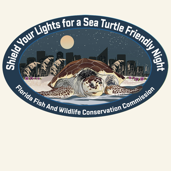 "2017-2018 ""Loggerhead"" decal by Mike Hunter, FWC."