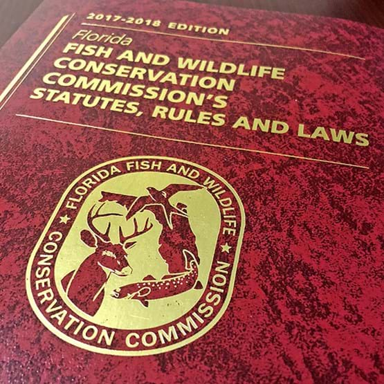 The cover of the Florida fish and wildlife conservation commissions statues, rules, and laws handbook