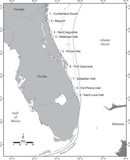 Florida map of inlets
