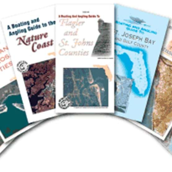 Photo of boating and angling guide brochures
