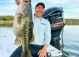 Nathaniel Scott Kicklighter with his 14 pound, 11 ounce bass.