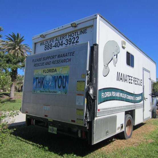 Manatee research and rescue vehicle.