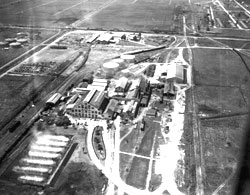 historic photo of sugar mill at Clewiston